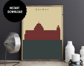 Galway Print, Galway City Print, Printable, Digital Download