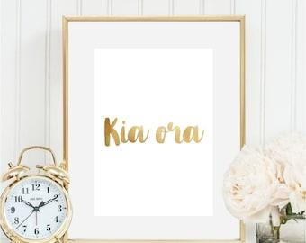 """Kiwiana - Foil New Zealand """"Kia Ora"""""""