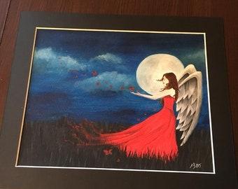 Original watercolour painting 'Moonlight magic'