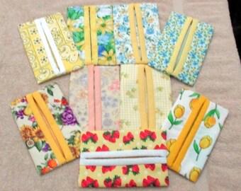 Yellow Kleenex Holders with Tissues