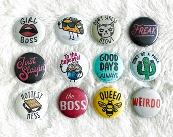 """Pinback Buttons: 1"""""""