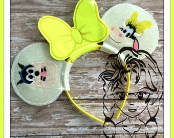 COW Clara & CaT Friend Inspired (3 Piece) Mr Miss Mouse Ears Headband ~ In the Hoop ~ Downloadable DiGiTaL Machine Emb Design by Carrie