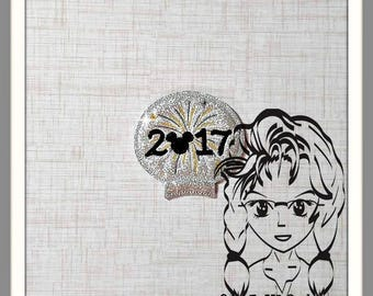 2017 FiREWORK NeW YeAR Ear (Add On ~ 1 Pc) Mr Miss Mouse Ears Headband ~ In the Hoop ~ Downloadable DiGiTaL Machine Emb Design by Carrie
