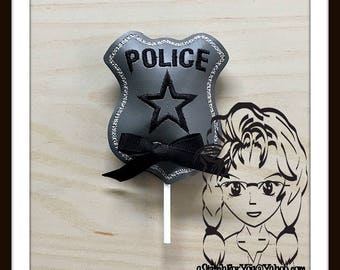 POLICE PoLICEMAN Character Sucker Cover Lollipop Candy ~ In the Hoop ~ Downloadable DiGiTaL Machine Embroidery Design by Carrie