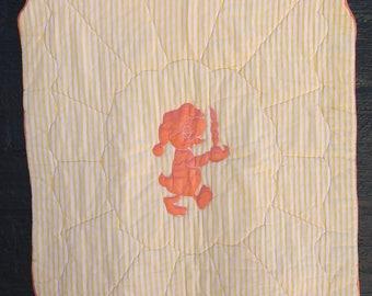 Vintage 1940s Blanket Quilt Baby Crib Blanket Summer Weight Wee Willy Winkie