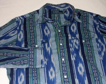 Polo Ralph Lauren Pearl Snap Western Style Medium Shirt Vintage 1990s