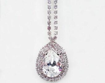 SUMMER SALE Crystal Rhinestone Necklace Swarovski White Wedding Jewelry Bridesmaid Jewelry MADE To Order