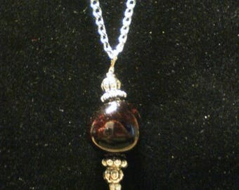 ON SALE Garnet Drop Necklace