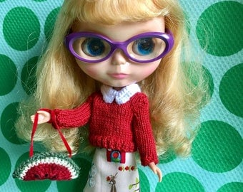 Blythe Doll Colour Me Fruity Set - Red