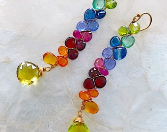 Gemstone Spectrum Earrings