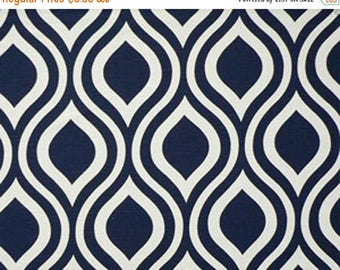 ON SALE - 10% Off Premier Prints Emily Premier Navy White Slub Home Decorating Fabric By The Yard