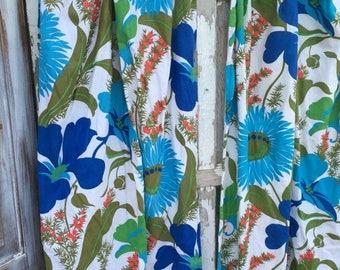 CRAZY SALE- Vintage Floral Drapes-Garden Glory