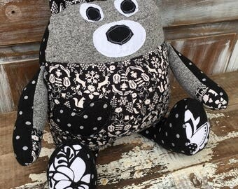 50% OFF- Florence the Bear-Stuffed Softie-One of a Kind Toy-Eco Friendly Toy