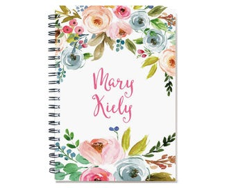 12 month 2017 Planner Book, custom  personal agenda planner, weekly planner calendar, desk diary, sister gift, floral design SKU: pli ofwf