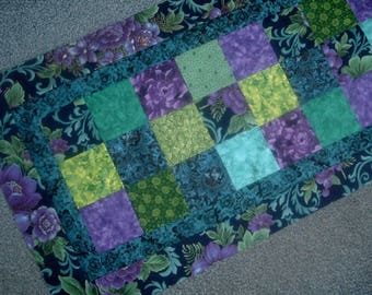 Beautiful Jewel Tones Table Runner to Finish 16 x 36 inches