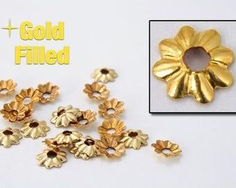 3.8mm Gold Filled Bead Cap #BGA026