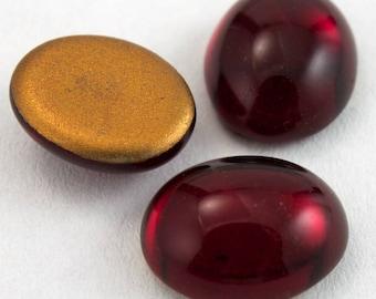 13mm x 18mm Ruby Oval Cabochon #FGI019