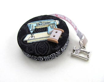 Tape Measure Vintage and Antique Sewing Machines Retractable Pocket Measuring Tape