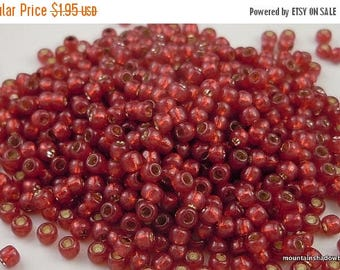 25% OFF Sale Silver Lined Milky Pomegranate - TOHO Seed Bead 11/0  - 2.5 Inch Tube (D 12 - 2)