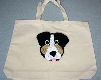 Bernese Mountain Dog Canvas Tote  - Dog Tote Bag- Pet Lovers Bag - Custom Tote Bag - Dog Lover Gift - Dog Moms Gift -