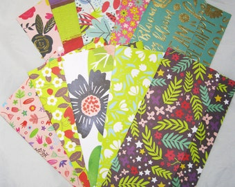 Cash Envelopes Fun Floral B Pattern-10 Envelope Set - Assorted Patterns