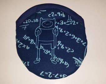 Travel Earring or Earbud USB Pouch Padded Case - Adventure Time Algebraic Finn