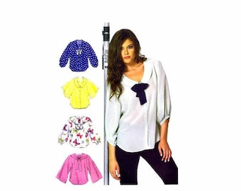 SALE Misses Loose Fitting Blouse McCalls 6648 Sewing Pattern Size 6 - 8 - 10 - 12 - 14 Bust 30 1/2 - 31 1/2 - 32 1/2 - 34 - 36 Uncut
