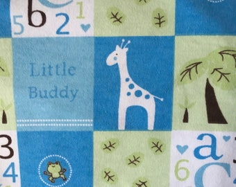 Receiving Swaddling Blanket Boy Blue Patchwork XL Extra Large