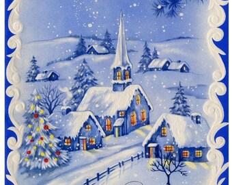 Blue Christmas Cross Stitch Pattern PDF