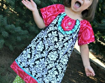 SALE STORE CLOSING Girls Peasant Dress - Ready to Ship