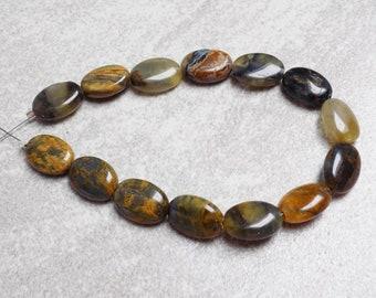Pietersite Oval beads— 10 x 14mm