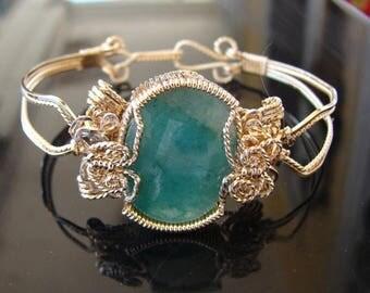 Moving Sale 40% Off 14 ct. Emerald Bangle Bracelet