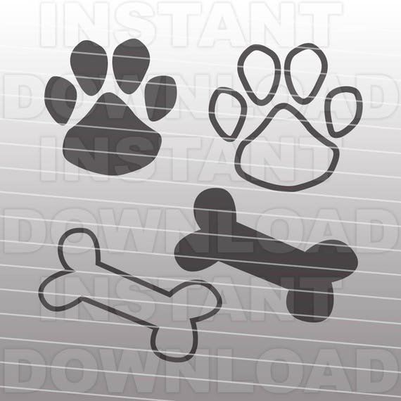 Download Paw Print SVG File-Dog Bone SVG-Dog Paw svg-Cutting