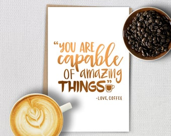 Foil cards - Coffee quotes - Amazing Things