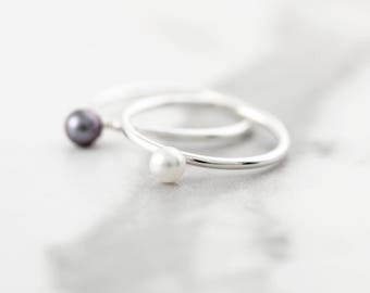 Pearl ring - Ring in sterling silver or gold filled