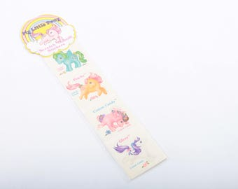 My Little Pony, Cotton Candy, Scratch N Sniff Stickers, Vintage, Perfumed Stickers, Set, Peachy, Glory, Ponies ~ The Pink Room ~ 170318