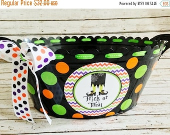 ON SALE Personalized Halloween Tub with Witch Feet