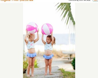 ON SALE Monogram Girls Sea Turtle Swimsuit