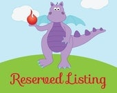 Reserved listing for Maureen