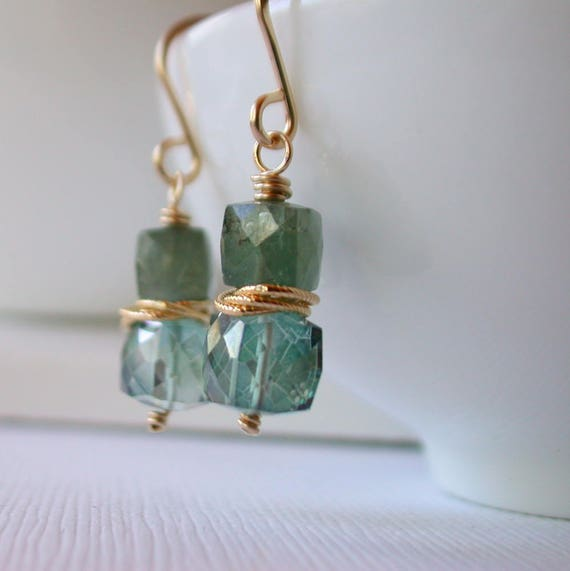 Cubist Aquamarine and Quartz