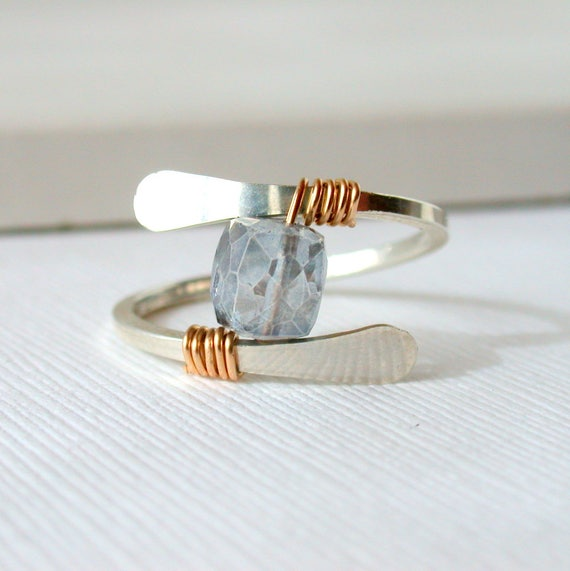 Mystic Blue Quartz Ring