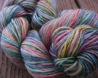 MOONBEAM Handspun Soysilk Yarn 280yds 2.1oz 14wpi aspenmoonarts knitting art yarn sportweight vegan