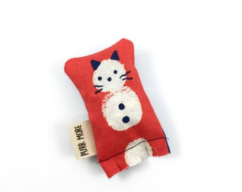 Snowman Cat Green Bean Organic Eco Friendly Catnip Cat Toy For Mew