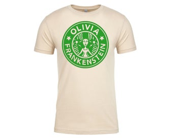 Olivia Frankenstein Starbugs Logo Tshirt in Cream