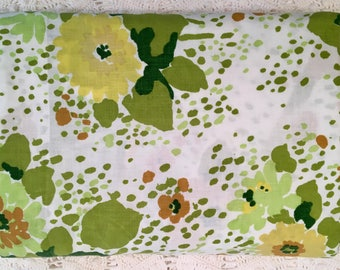 Vintage Edgemont Twin Flat - Green and Yellows - Cutter - Fabric for Projects