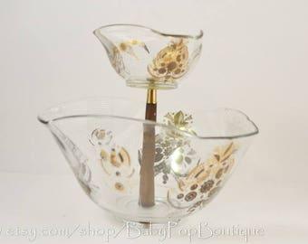 GEORGES BRIARD Chip and Dip bowl Mid Century/barware