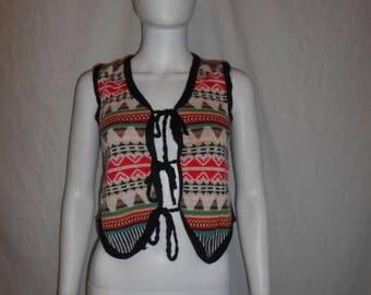 Closing Shop 40%off SALE Vintage vest top, Colorful Ethnic vest top
