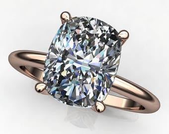 Private Listing for Madeleine - natalie ring deposit - 2.4 carat elongated cushion cut ZAYA moissanite engagement ring, final payment