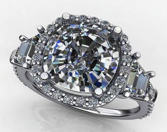Private Listing for Stephanie - custom 3.3 carat NEO moissanite engagement ring - payment 2 of 4