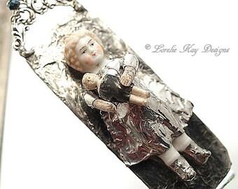 Charlotte & Charlotte Doll Necklace Soldered Frozen Charlotte Doll Pendant or Ornament Lorelie Kay Original